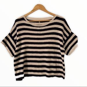 Madewell Women's Boxy crop Top Size L